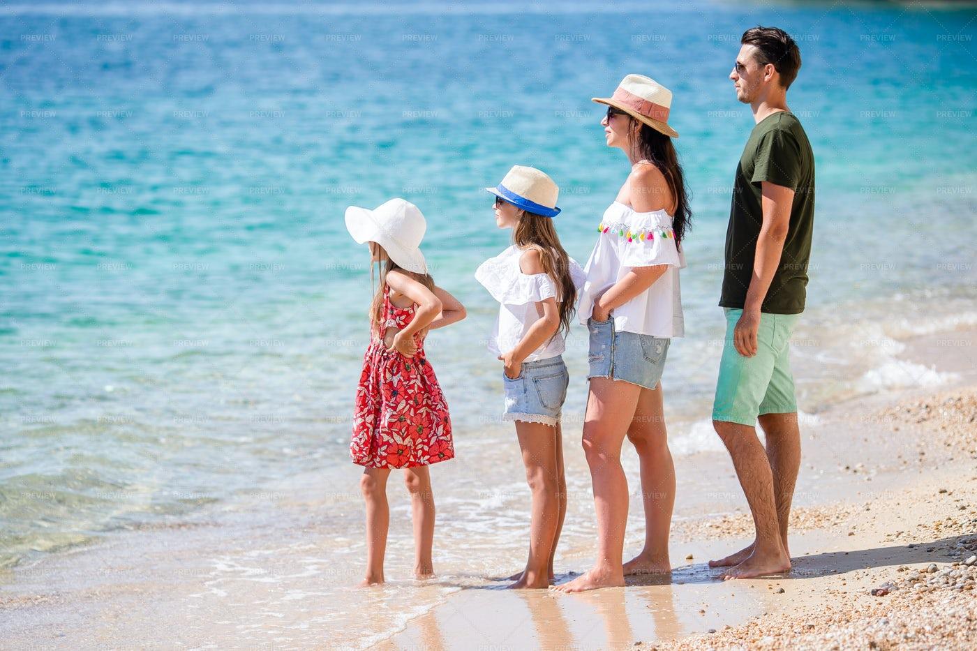 Family At The Shore: Stock Photos