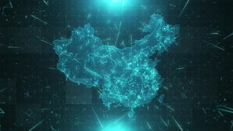 China Map Population: Motion Graphics