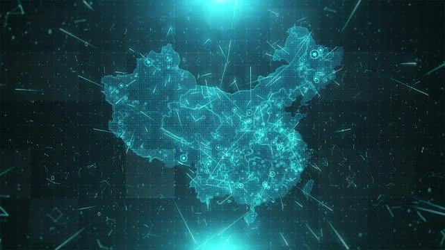 China Map Population: Stock Motion Graphics