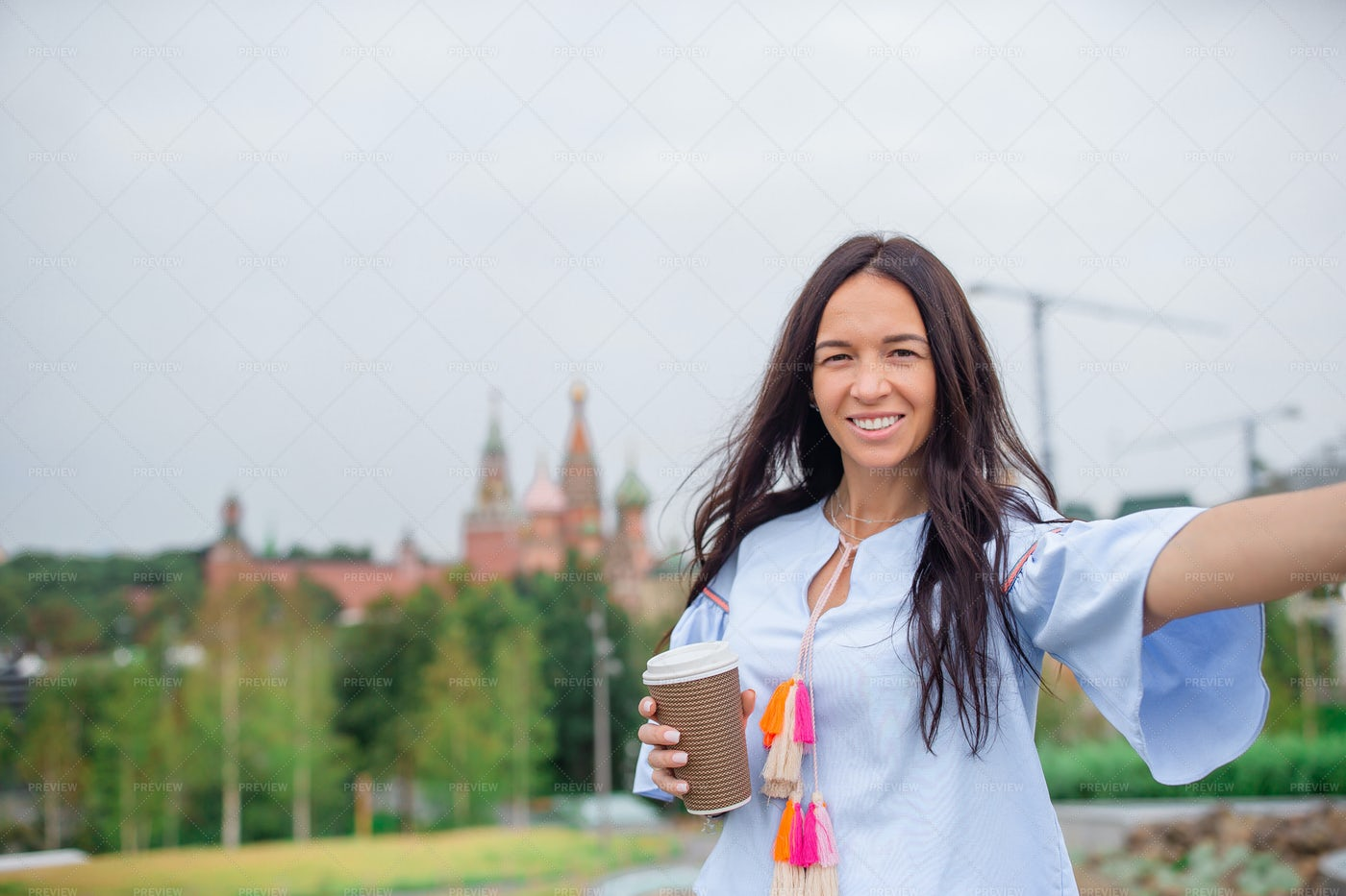 Drinking Coffee In The Outdoors: Stock Photos