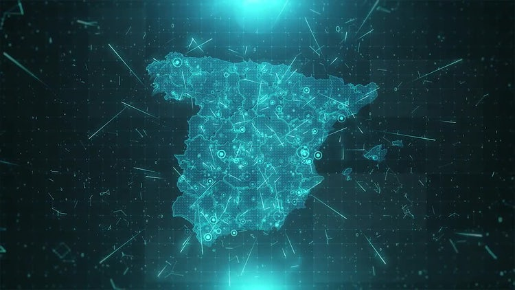 Spain Map Population: Motion Graphics