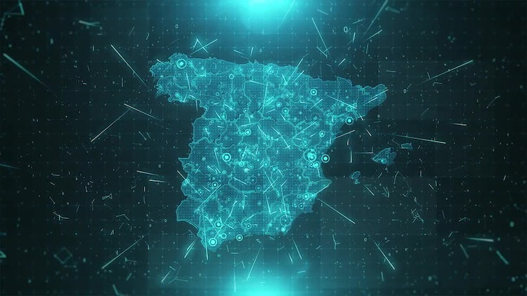 Spain Map Population: Stock Motion Graphics