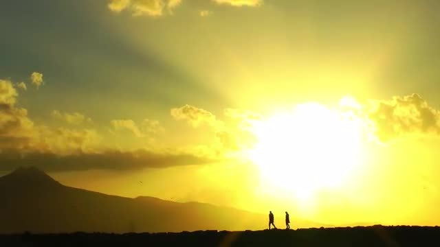 Sunset Couple: Stock Video