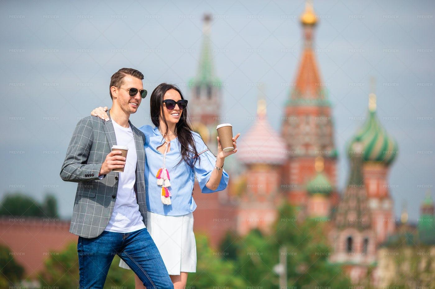 Couple In Moscow: Stock Photos