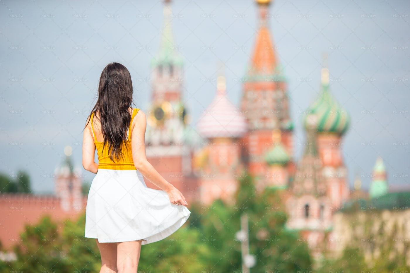 Tourist In Moscow: Stock Photos
