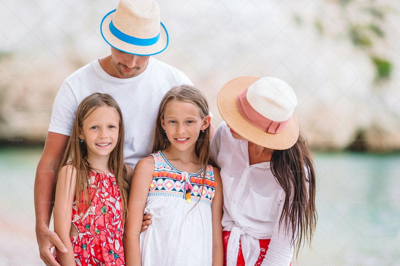 Family Beach Portrait: Stock Photos