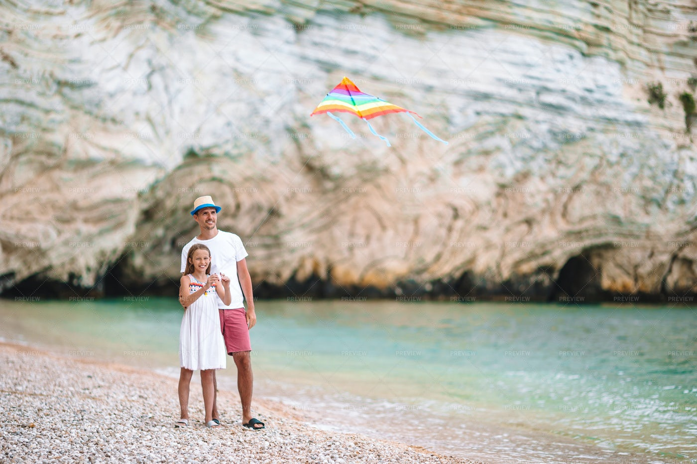 Kite Flying On Vacation: Stock Photos