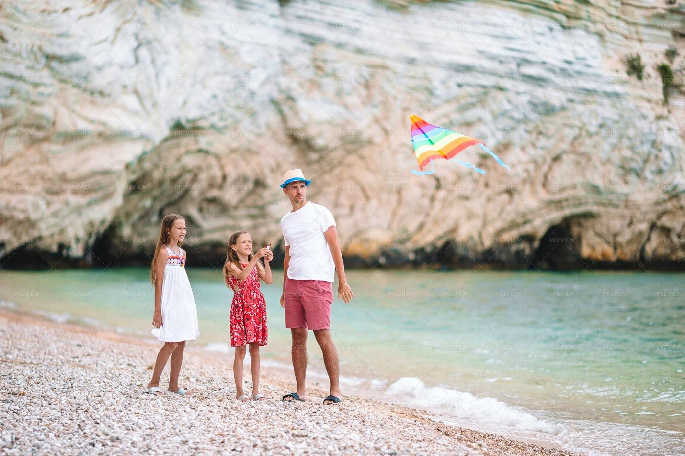 Family Kite Flying: Stock Photos