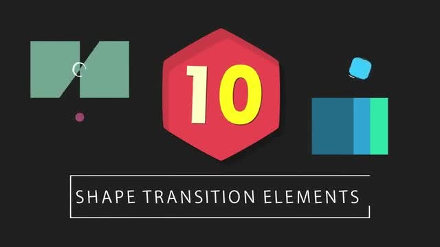 10 Shape Transitions: Stock Motion Graphics