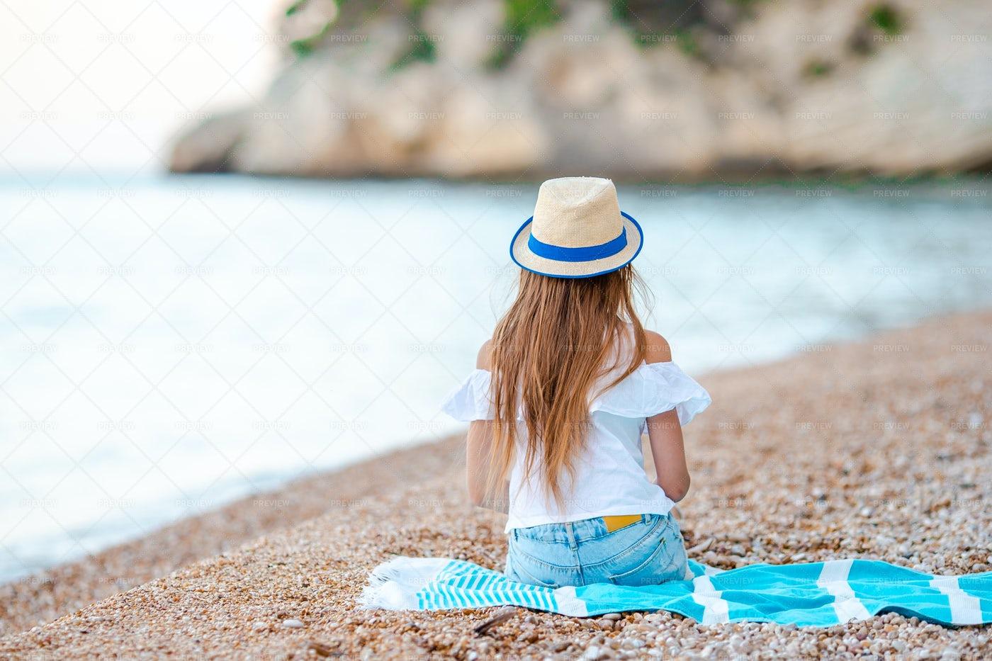 On A Beach Towel: Stock Photos