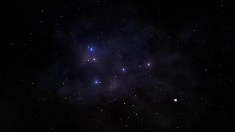 Flying Through the nebula: Motion Graphics