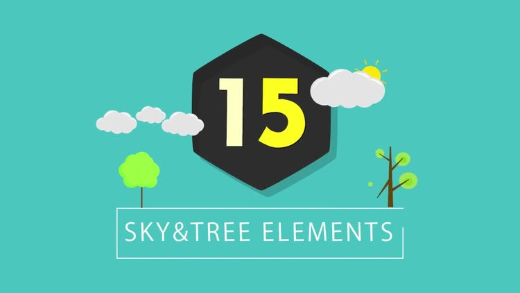 15 Sky and Trees: Stock Motion Graphics