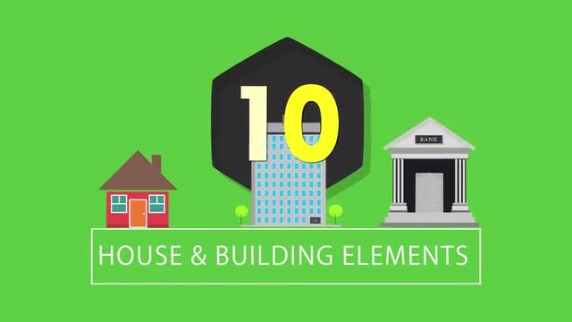 10 Buildings & Houses : Stock Motion Graphics