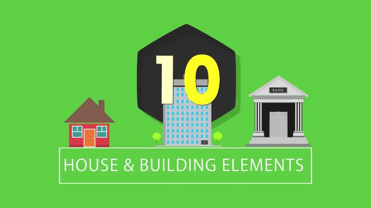 10 Buildings & Houses : Motion Graphics