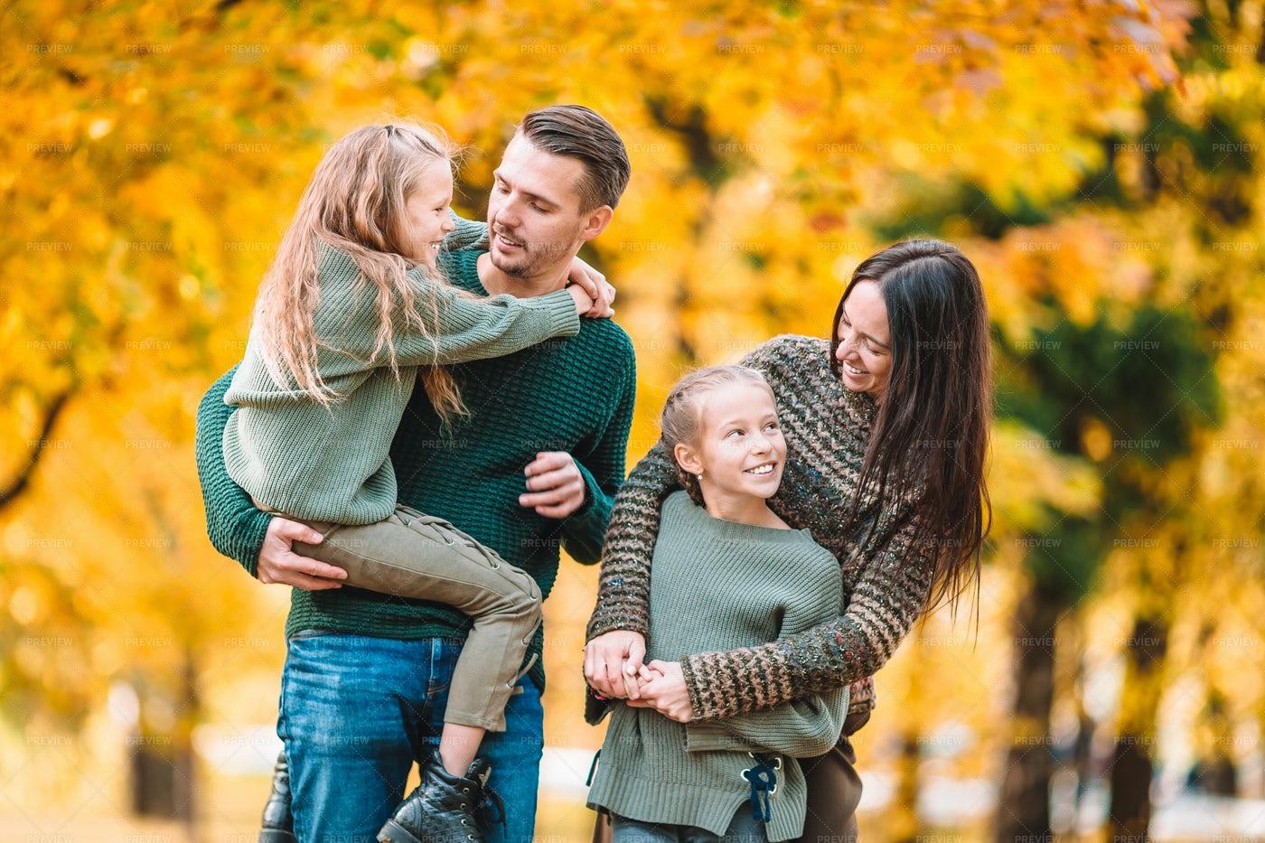 Family During Autumn: Stock Photos