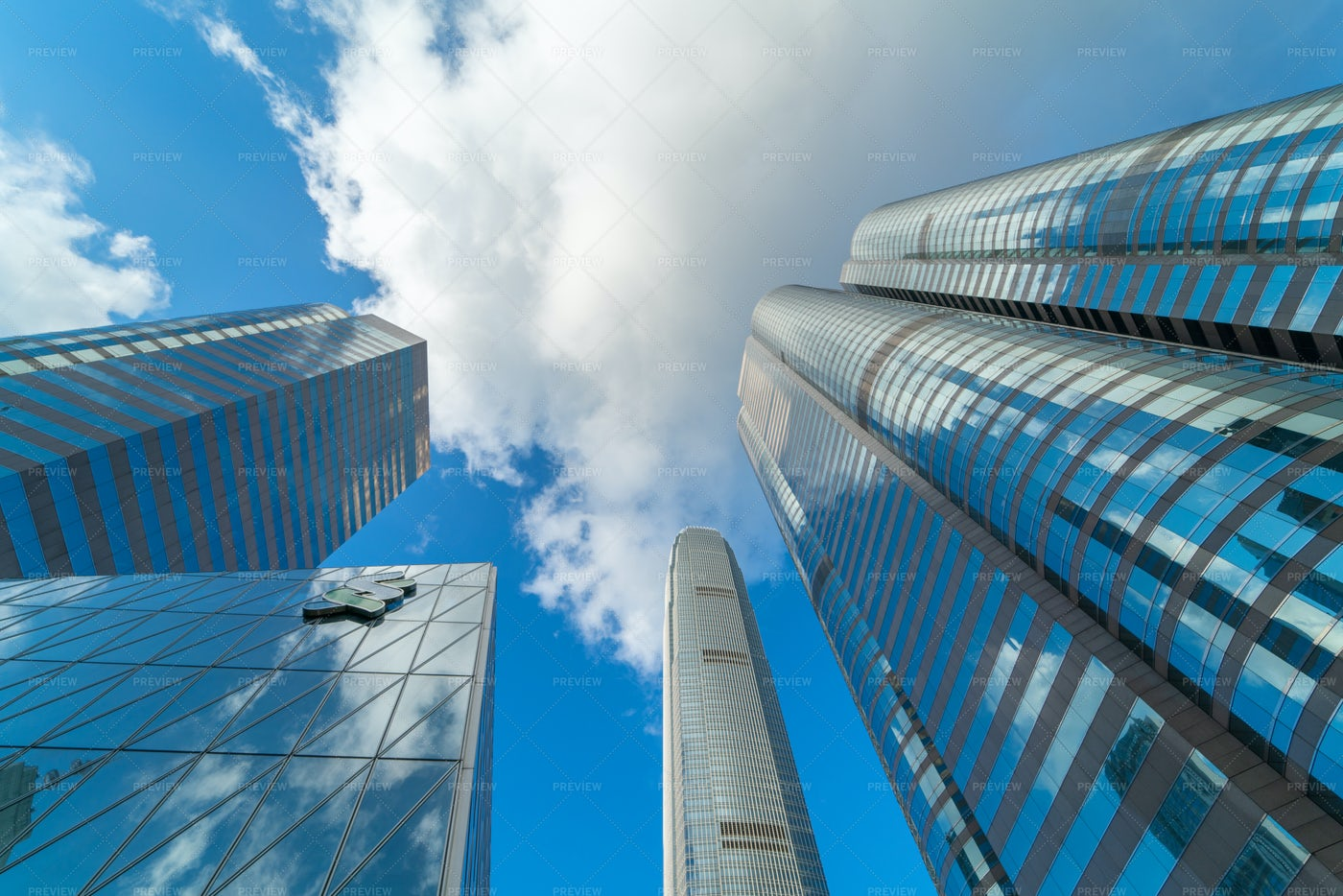 Business Buildings With Blue Sky: Stock Photos