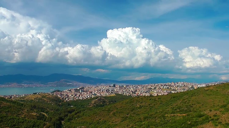 Cityscape Izmir Turkey and Clouds: Stock Video