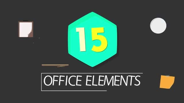 Infographic Elements: 15  Office Elements: Stock Motion Graphics