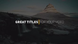 Creative Titles: Premiere Pro Templates