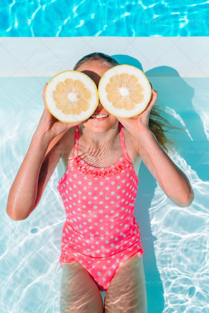Lemon Halves Over Eyes: Stock Photos