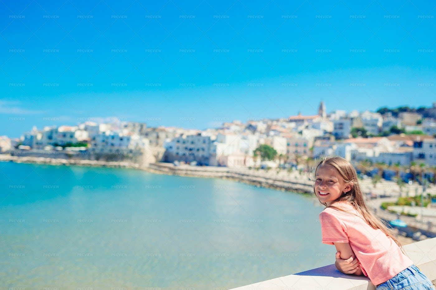 Girl In European City: Stock Photos
