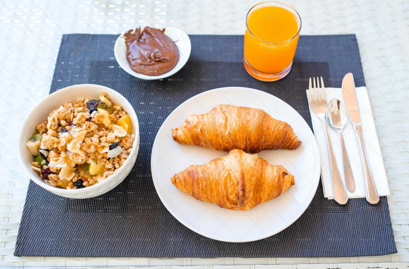 Healthy Hotel Breakfast: Stock Photos