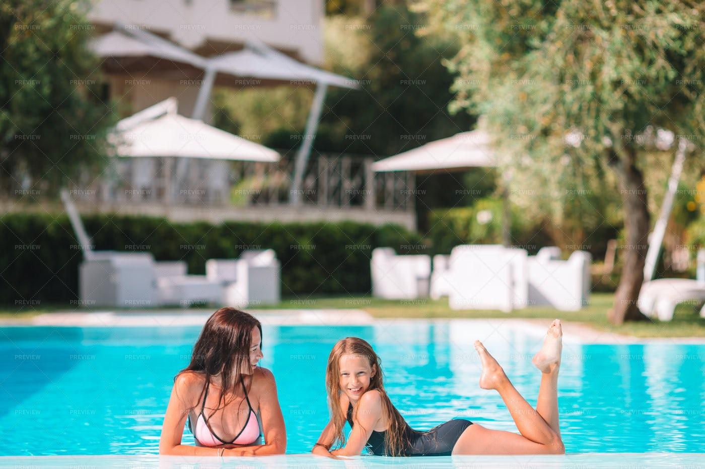 Pool Posing: Stock Photos