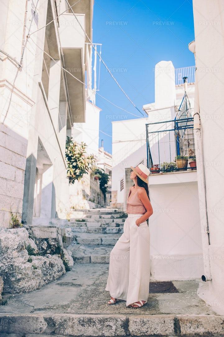 Narrow Streets In Summer: Stock Photos