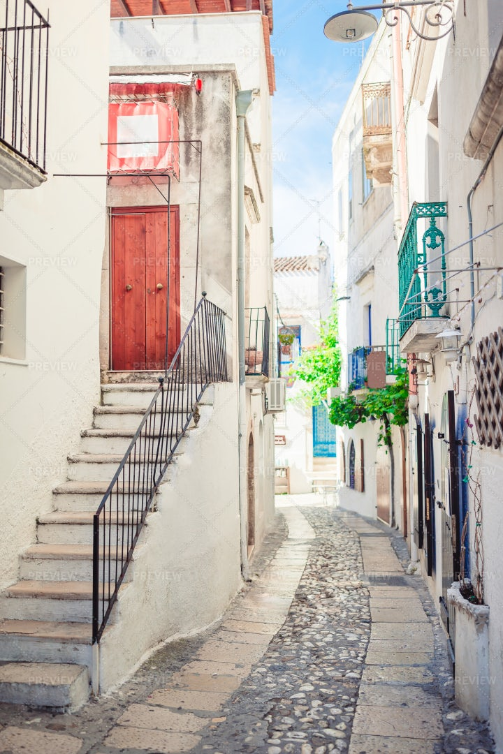 Picturesque Streets In Italy: Stock Photos