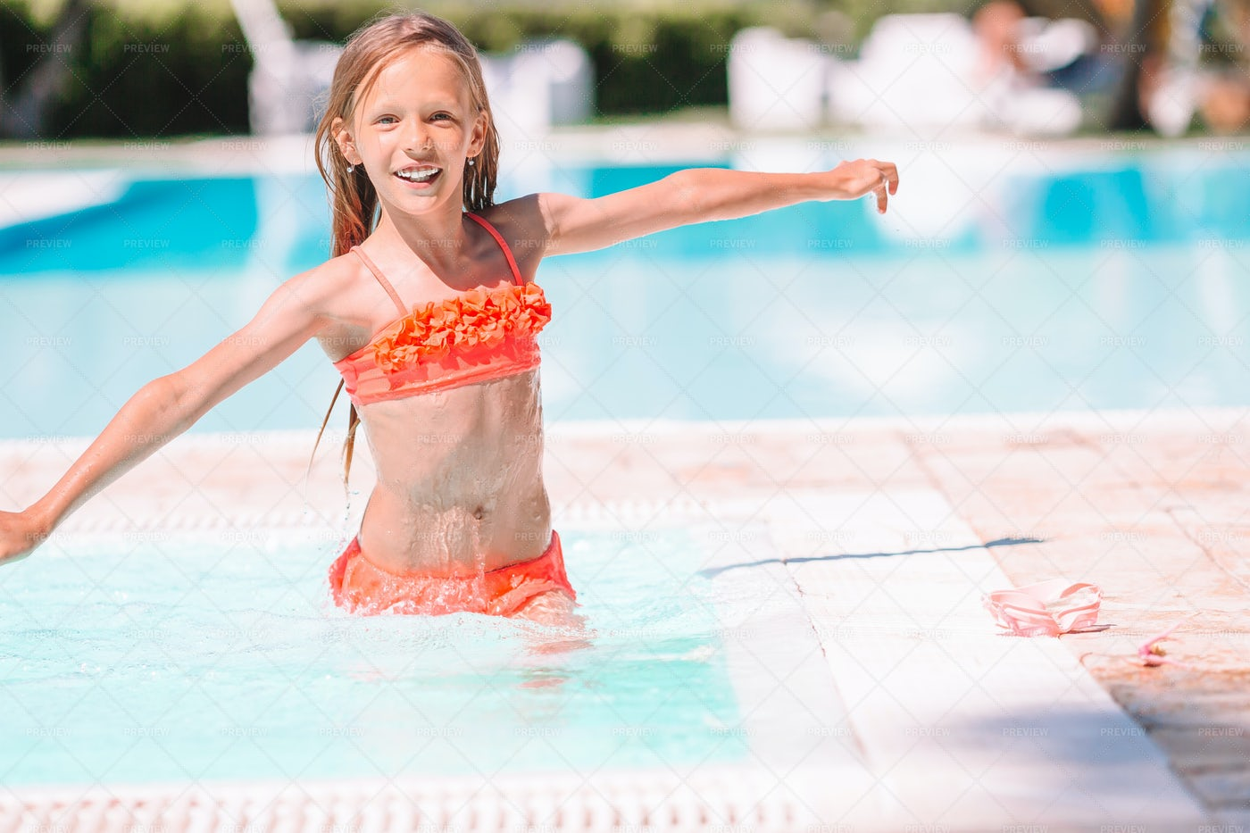 Playing In The Pool: Stock Photos