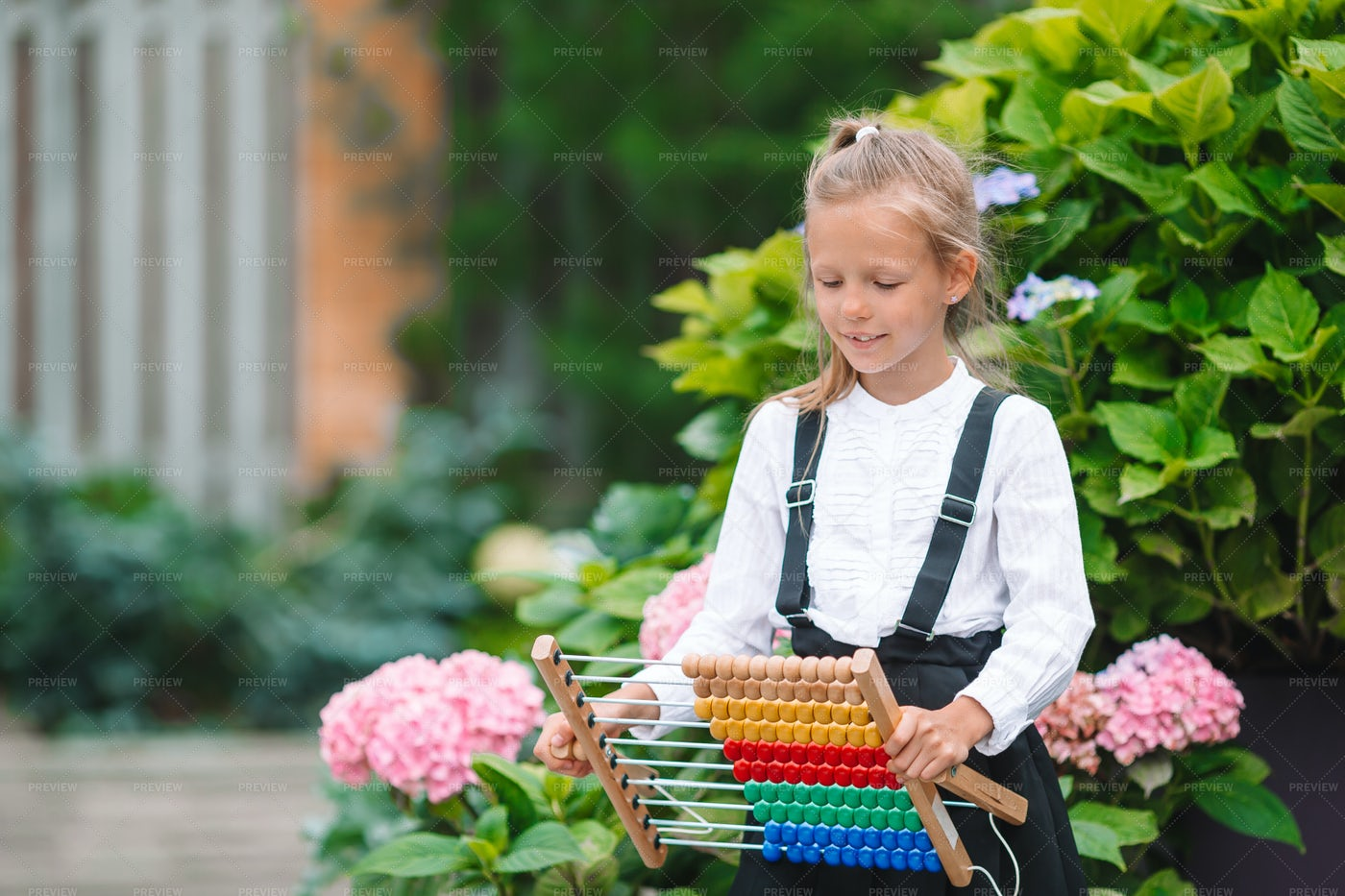Student With An Abacus: Stock Photos