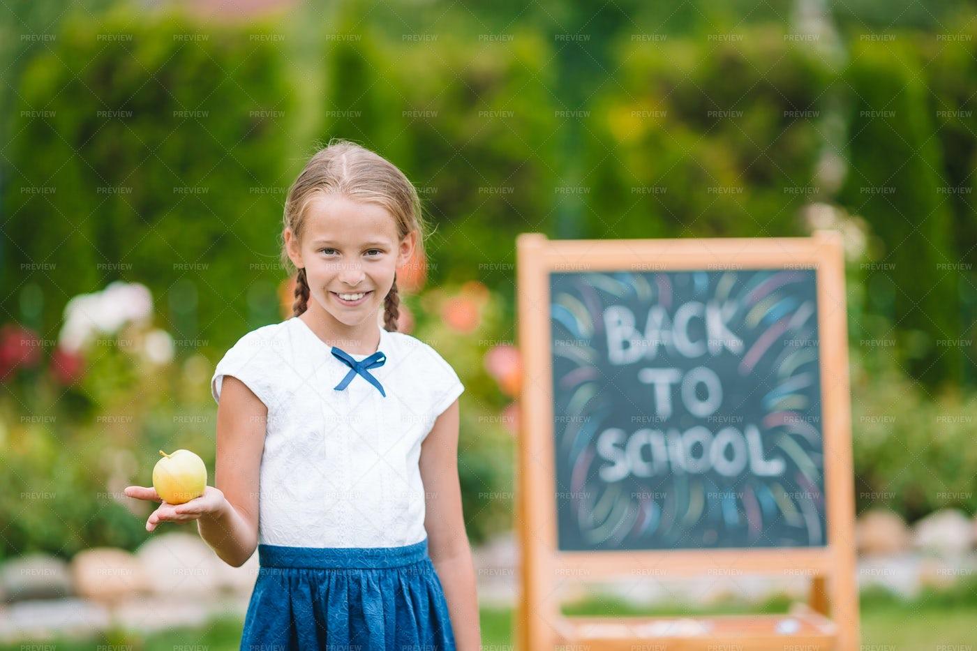 Girl Ready For New School Year: Stock Photos