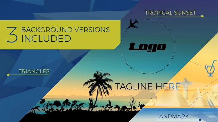 Travel & Tourism Logo Opener: After Effects Templates