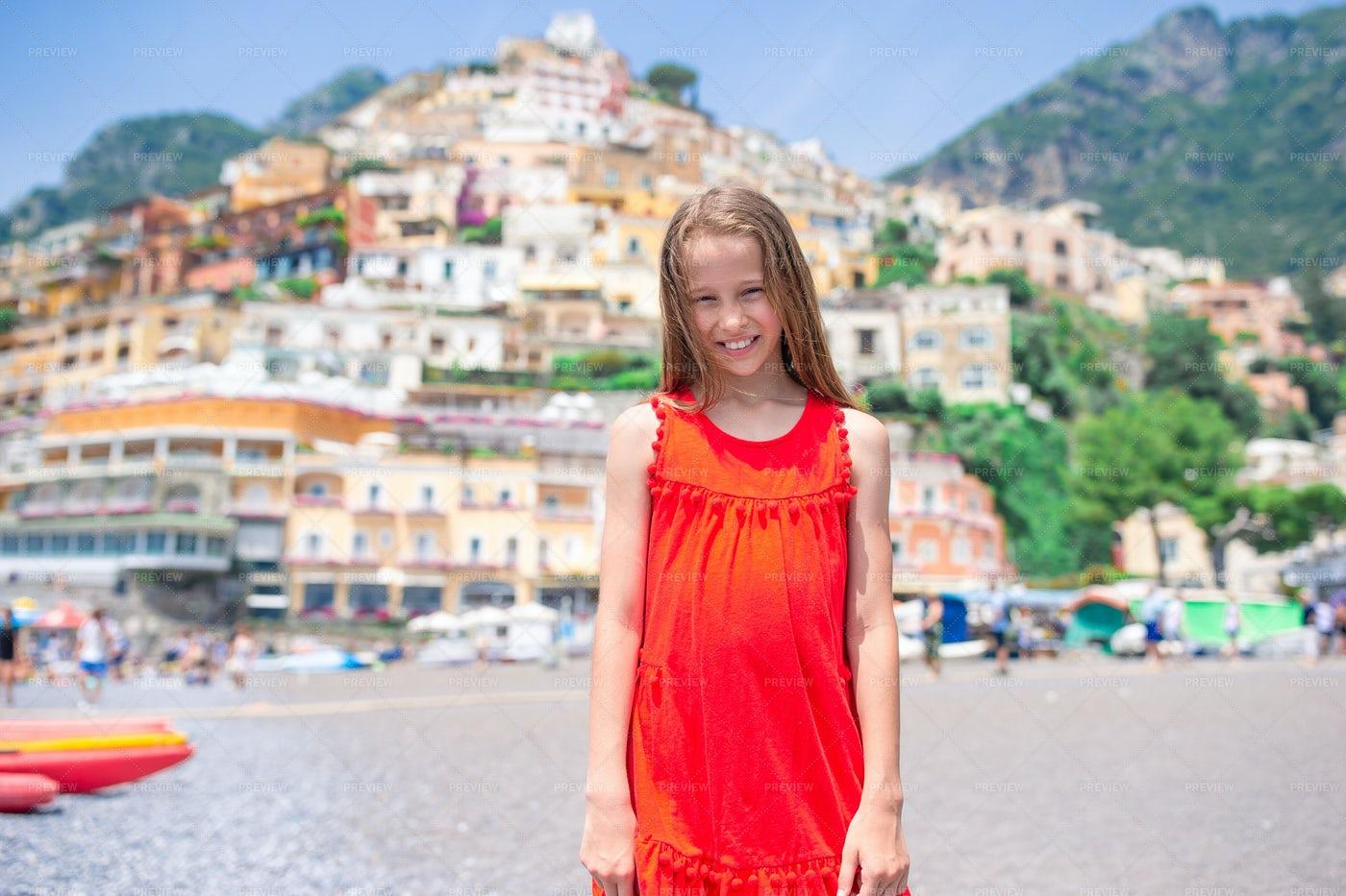 Tourist Girl On A Warm Day: Stock Photos