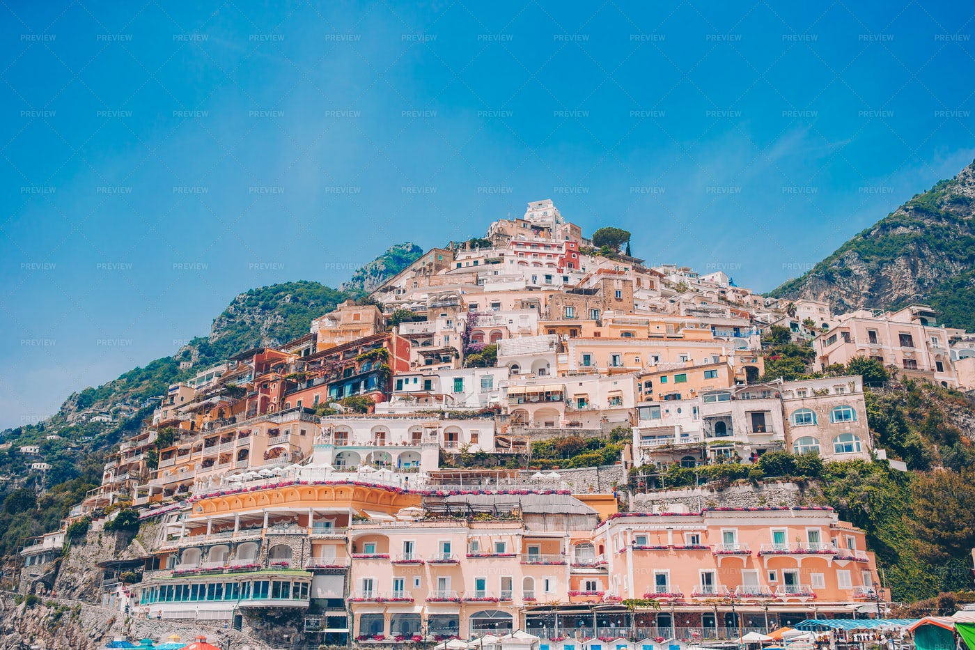 Italian Cliff Town: Stock Photos