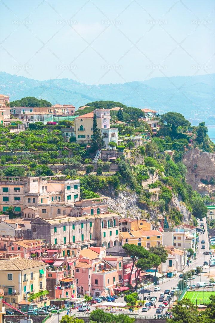View Of The Town Of Positano: Stock Photos