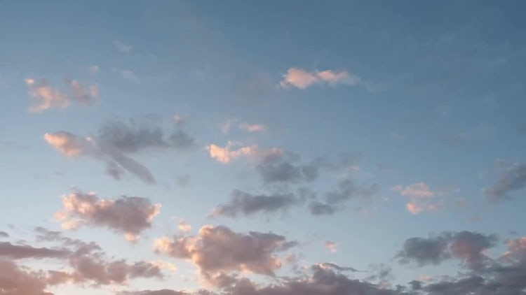 Sunset And Blue Sky: Stock Video