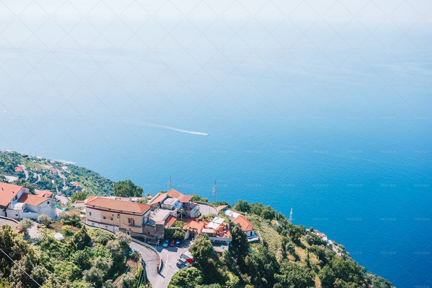 Village On A Cliff Side: Stock Photos