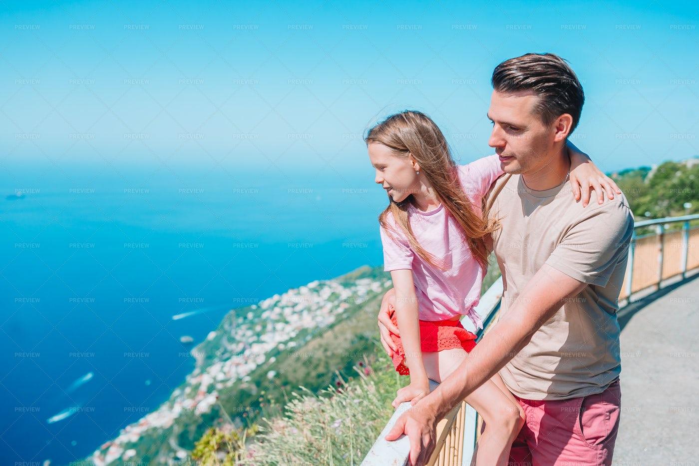 Italian Cliff Views: Stock Photos