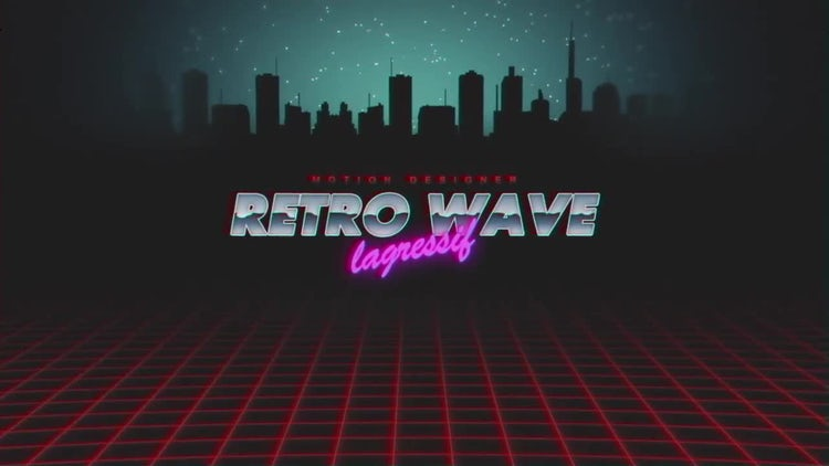 Retro Wave Intro v.2: After Effects Templates
