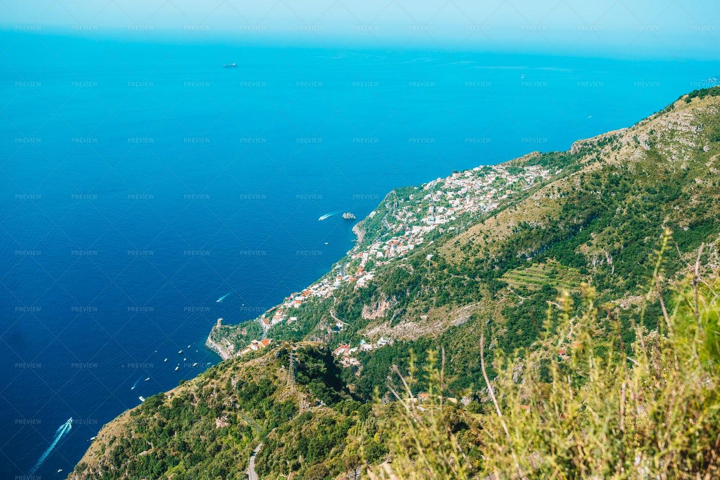 Above The Amalfi Coast: Stock Photos