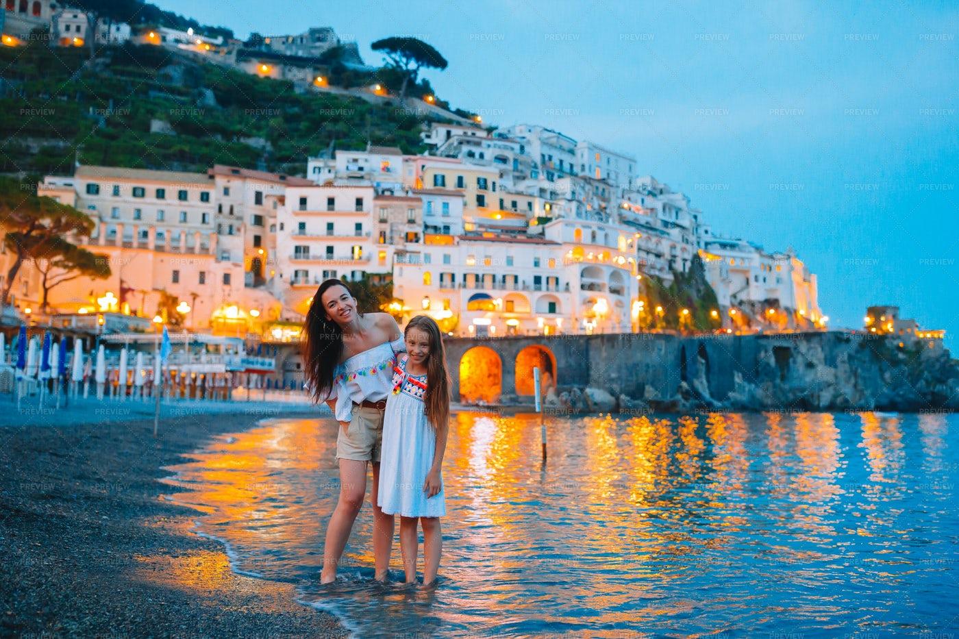 Family In Positano: Stock Photos
