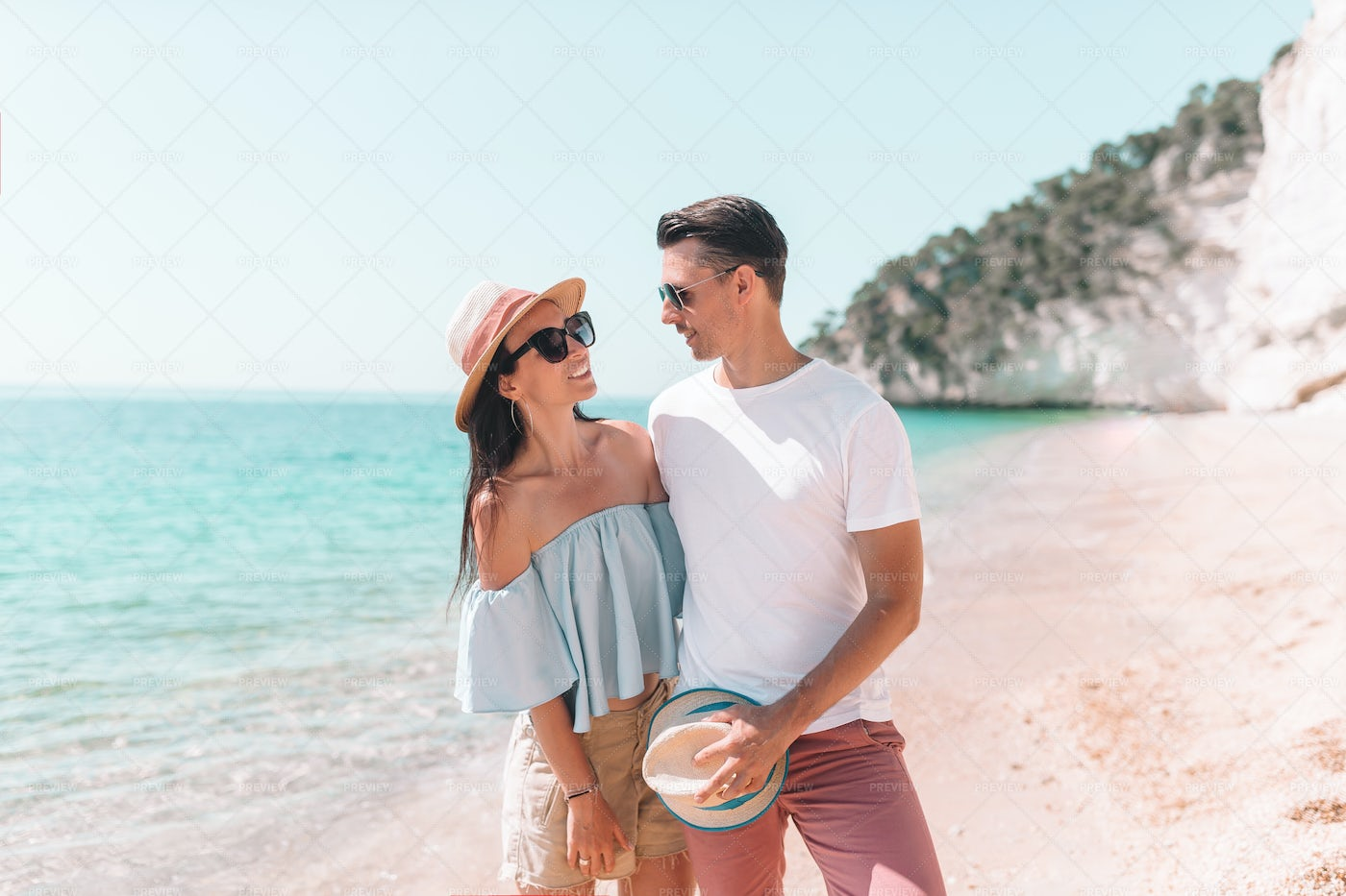 Couple Looking At Each Other: Stock Photos