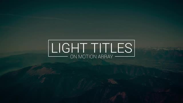 18 Light Titles: Premiere Pro Templates