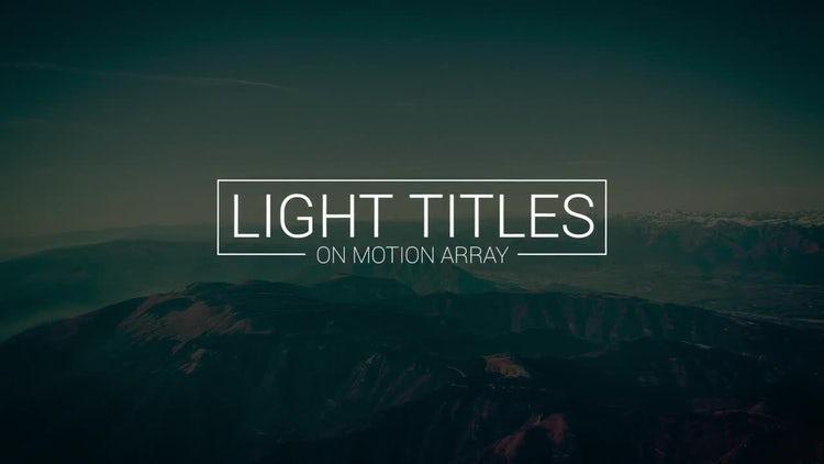 18 Light Titles: Premiere Pro Templates
