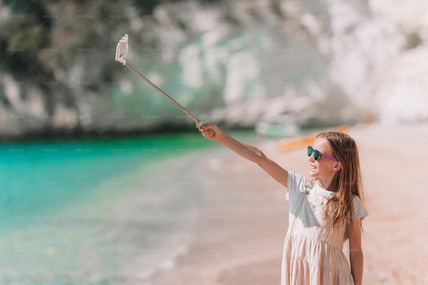 Beach Selfie: Stock Photos