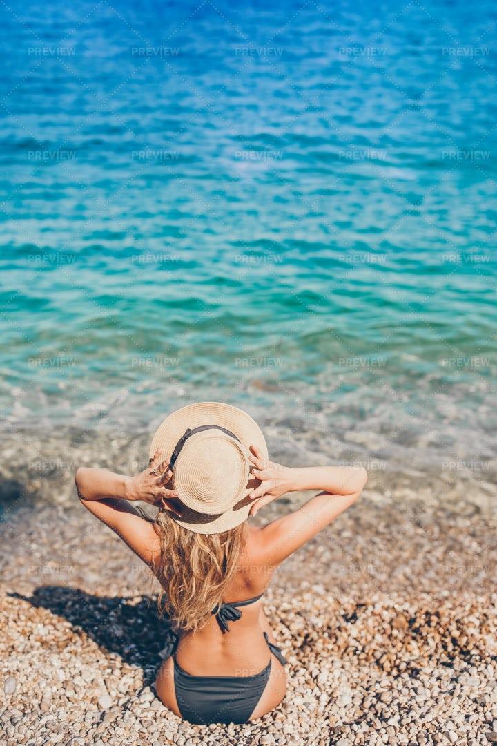 Enjoying Beach Vacations: Stock Photos