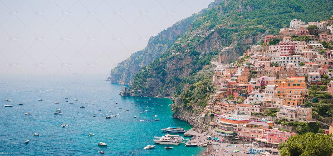 Positano Panorama: Stock Photos