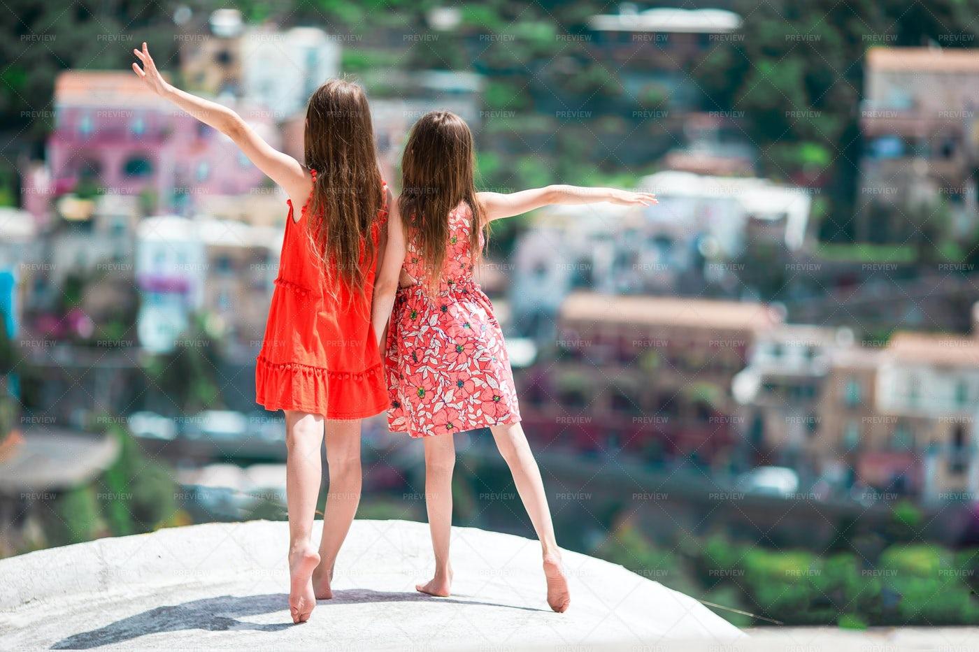 Sisters In Positano: Stock Photos