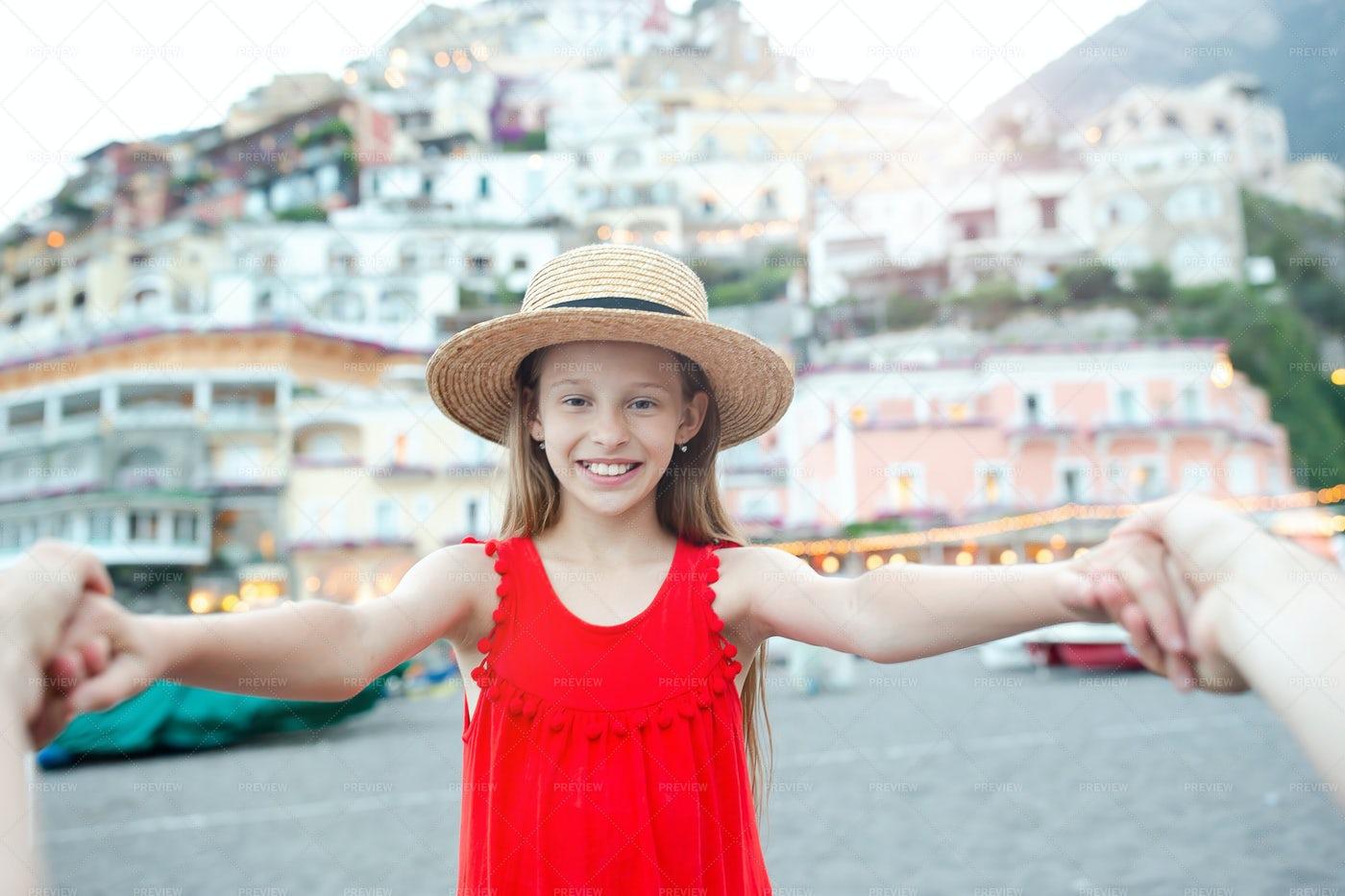 Girl On Italian Vacation: Stock Photos